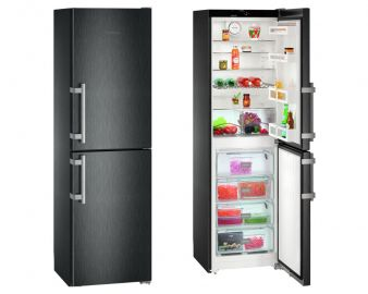Liebherr CNbs3915 Comfort 60cm A++ No Frost Black Steel Fridge Freezer