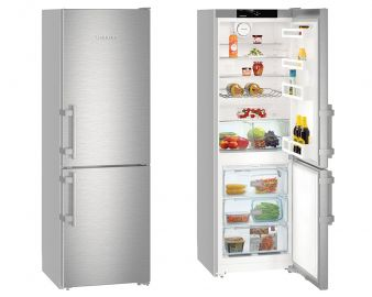 Liebherr Comfort CNEF3515 181.7x60cm A++ Stainless Steel No Frost Fridge Freezer