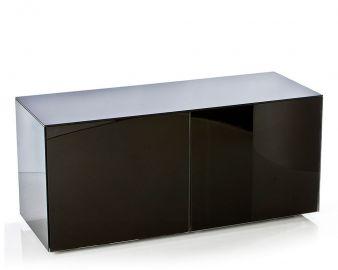 Frank Olsen High Gloss Black 1100mm wide TV unit for  upto 55'' screen