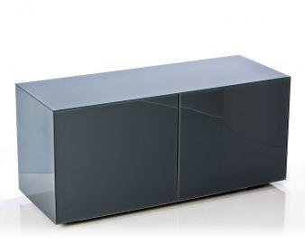 Frank Olsen High Gloss Grey 1100mm wide TV unit for  upto 55'' screen