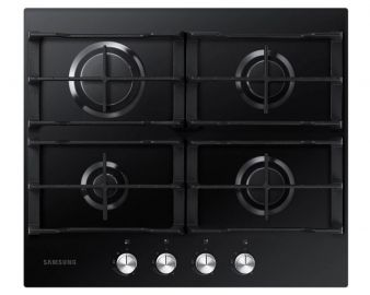 Samsung NA64H3000AK Gas Hob in Black Glass