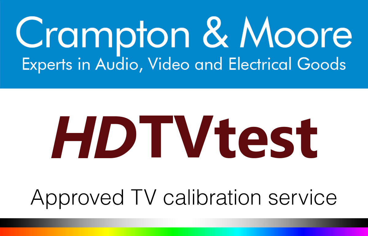 TV Calibration with Crampton and Moore and HDTV test