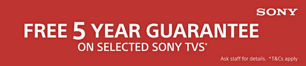 Sony 5 Year guarantee