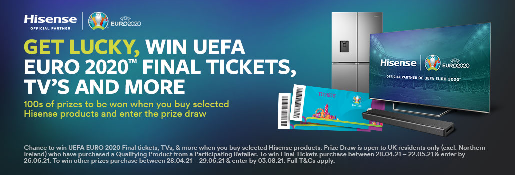 Win UEFA Euro 2020 tickets with Hisense