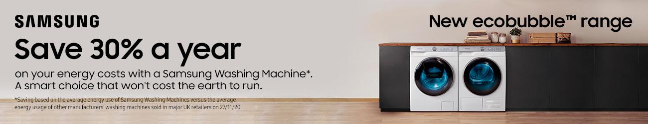 Save money with Samsung Heat Pump Dryer