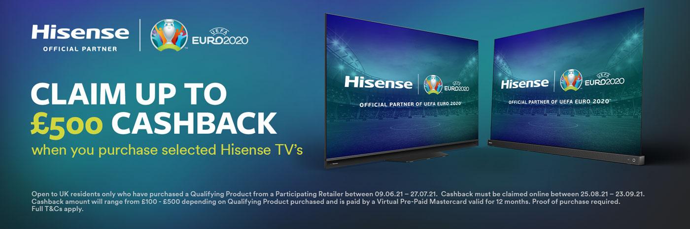 Hisense cachback promotion